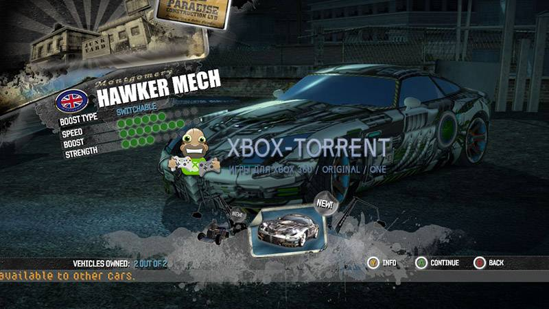 Скачать торрент Burnout Paradise: The Ultimate Box [GOD/DLC/ENG] на xbox 360 без регистрации