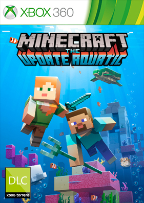 Minecraft the update aquatic: Xbox 360 Edition [XBLA/DLC/TU/RUS]