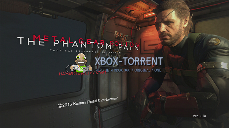 Скачать торрент Metal Gear Solid V: The Phantom Pain - NO HDD & 4GB EDITION [DLC/FREEBOOT/RUS] на xbox 360 без регистрации